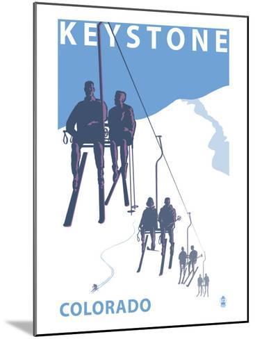 Keystone, Colorado Ski Lift-Lantern Press-Mounted Art Print