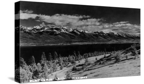 Montana - View of Flathead Lake-Lantern Press-Stretched Canvas Print