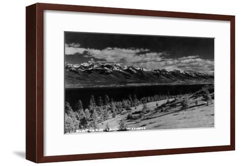 Montana - View of Flathead Lake-Lantern Press-Framed Art Print