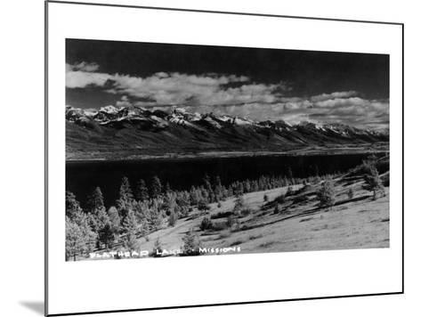 Montana - View of Flathead Lake-Lantern Press-Mounted Art Print