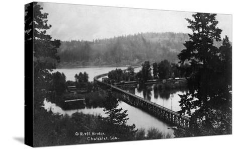 Chatcolet, Idaho - Oregon and Northwestern Railroad Bridge-Lantern Press-Stretched Canvas Print