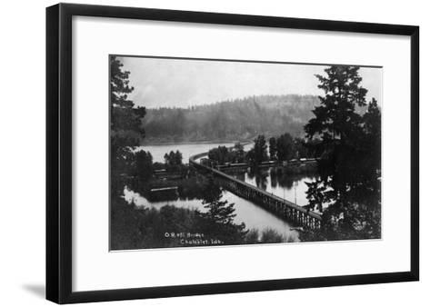 Chatcolet, Idaho - Oregon and Northwestern Railroad Bridge-Lantern Press-Framed Art Print