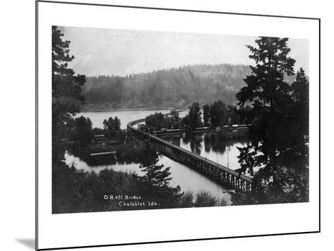 Chatcolet, Idaho - Oregon and Northwestern Railroad Bridge-Lantern Press-Mounted Art Print