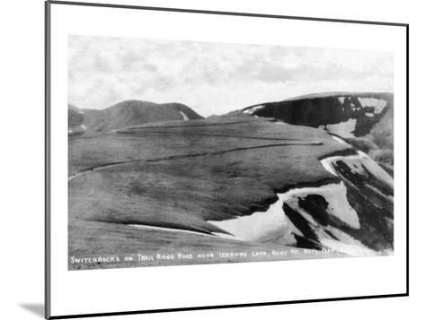 Rocky Mt Nat'l Park, Colorado - Trail Ridge Road Switchbacks near Iceberg Lake-Lantern Press-Mounted Art Print
