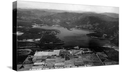 Idaho - Hayden Lake Aerial-Lantern Press-Stretched Canvas Print