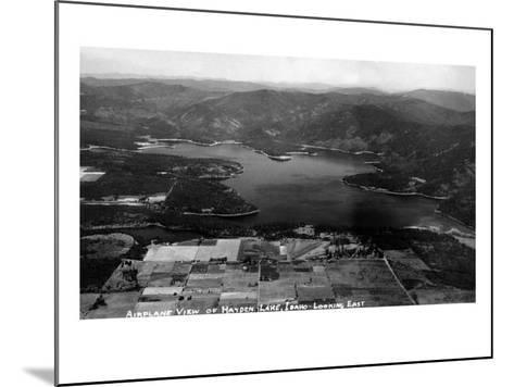 Idaho - Hayden Lake Aerial-Lantern Press-Mounted Art Print