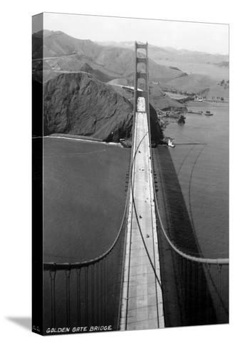 San Francisco, California - Golden Gate Bridge from Bridge Pinnacle-Lantern Press-Stretched Canvas Print