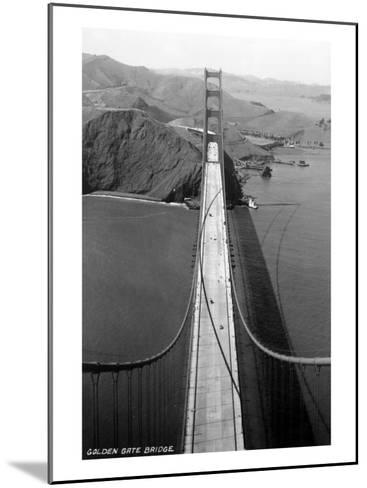 San Francisco, California - Golden Gate Bridge from Bridge Pinnacle-Lantern Press-Mounted Art Print