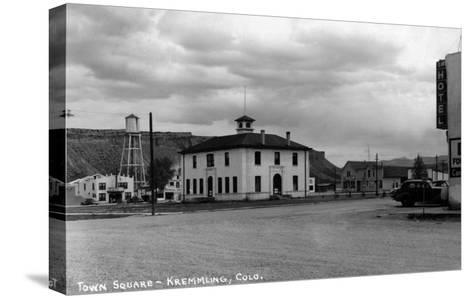 Kremmling, Colorado - Town Square-Lantern Press-Stretched Canvas Print