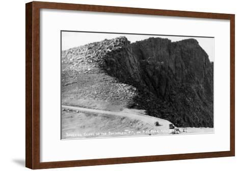 Colorado Springs, Colorado - Pikes Peak Hwy; Cliffs of the Bottomless Pit-Lantern Press-Framed Art Print