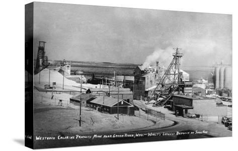 Wyoming - Westwaco Chlorine Production Mine near Green River-Lantern Press-Stretched Canvas Print