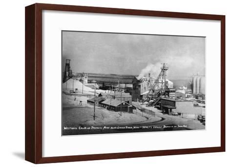 Wyoming - Westwaco Chlorine Production Mine near Green River-Lantern Press-Framed Art Print