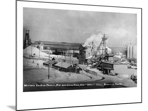 Wyoming - Westwaco Chlorine Production Mine near Green River-Lantern Press-Mounted Art Print