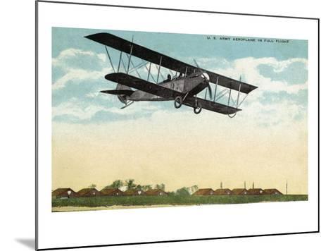 View of a US Army Aeroplane in Flight-Lantern Press-Mounted Art Print