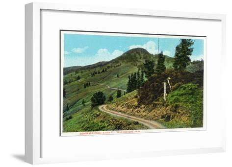 Yellowstone Nat'l Park, Wyoming - Dunraven Pass View-Lantern Press-Framed Art Print