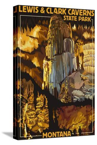 Lewis and Clark Caverns State Park, Montana-Lantern Press-Stretched Canvas Print