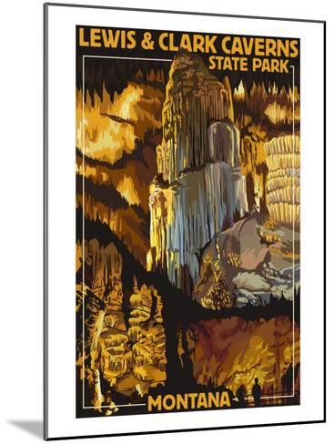 Lewis and Clark Caverns State Park, Montana-Lantern Press-Mounted Art Print