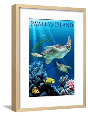 Sea Turtles - Pawleys Island, South Carolina-Lantern Press-Framed Art Print