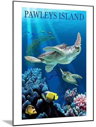 Sea Turtles - Pawleys Island, South Carolina-Lantern Press-Mounted Art Print