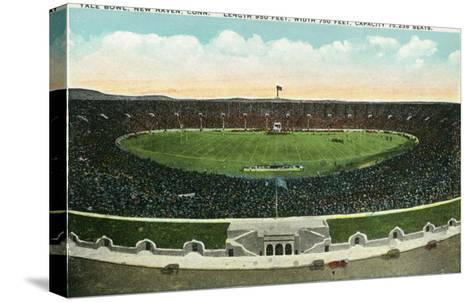 New Haven, Connecticut - Panoramic View of Yale Bowl-Lantern Press-Stretched Canvas Print