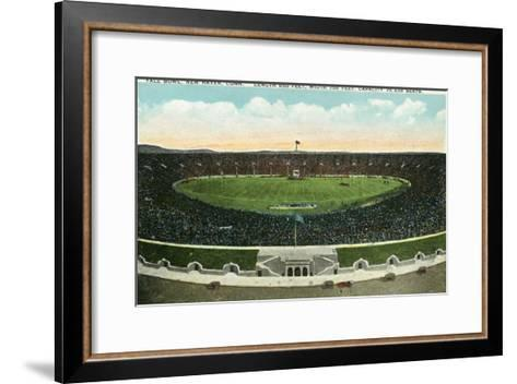 New Haven, Connecticut - Panoramic View of Yale Bowl-Lantern Press-Framed Art Print