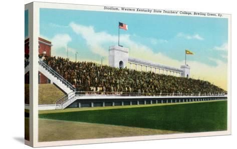 Bowling Green, Kentucky - Western Kentucky State Stadium View-Lantern Press-Stretched Canvas Print