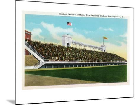 Bowling Green, Kentucky - Western Kentucky State Stadium View-Lantern Press-Mounted Art Print