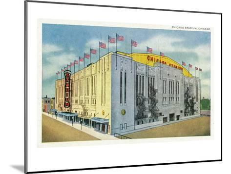 Chicago, Illinois - Chicago Stadium Exterior View-Lantern Press-Mounted Art Print