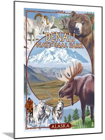 Denali National Park, Alaska - Park Views-Lantern Press-Mounted Art Print