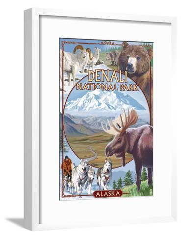 Denali National Park, Alaska - Park Views-Lantern Press-Framed Art Print