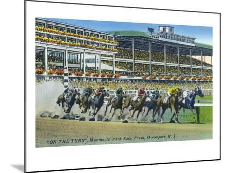 Oceanport, New Jersey - Monmouth Park Race Track Scene-Lantern Press-Mounted Art Print
