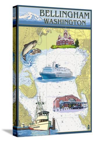 Bellingham, Washington - Nautical Chart-Lantern Press-Stretched Canvas Print