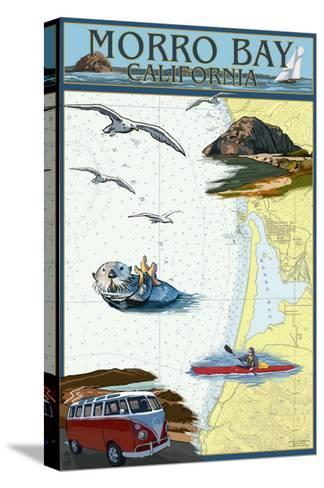 Morro Bay, California - Nautical Chart-Lantern Press-Stretched Canvas Print