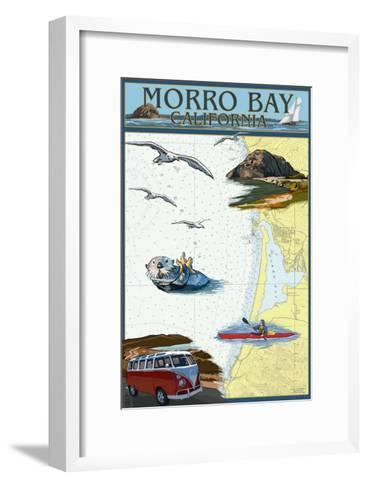 Morro Bay, California - Nautical Chart-Lantern Press-Framed Art Print