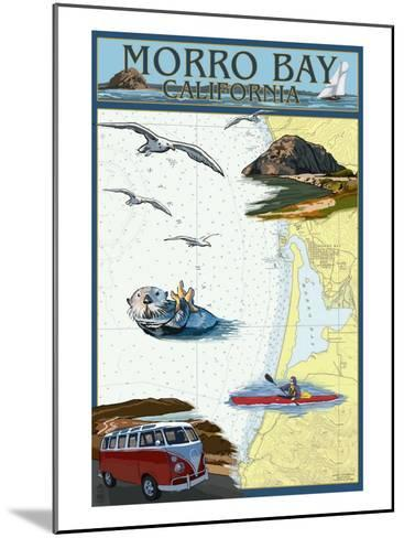 Morro Bay, California - Nautical Chart-Lantern Press-Mounted Art Print