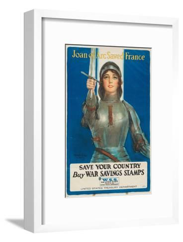 """""""Joan of Arc Saved France: Save Your Country, Buy War Savings Stamps"""", 1918-William Haskell Coffin-Framed Art Print"""
