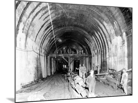 Great Northern Tunnel Under Seattle, Jan. 25, 1904-Asahel Curtis-Mounted Giclee Print