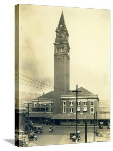 King Street Station, Seattle, 1924-Asahel Curtis-Stretched Canvas Print