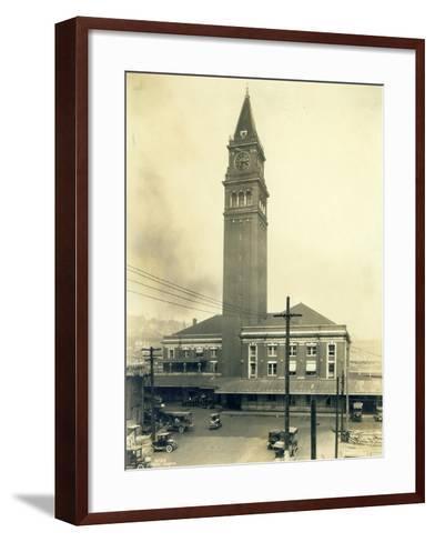 King Street Station, Seattle, 1924-Asahel Curtis-Framed Art Print