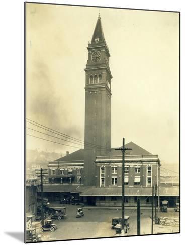 King Street Station, Seattle, 1924-Asahel Curtis-Mounted Giclee Print