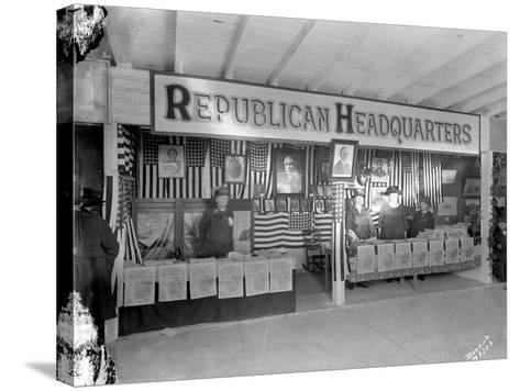 Western Washington Fair, Republican Headquarters Booth, October 6, 1923-Marvin Boland-Stretched Canvas Print