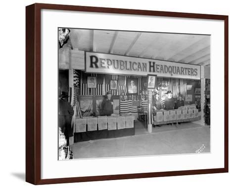 Western Washington Fair, Republican Headquarters Booth, October 6, 1923-Marvin Boland-Framed Art Print