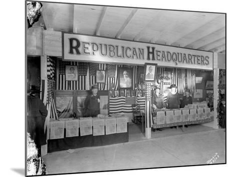 Western Washington Fair, Republican Headquarters Booth, October 6, 1923-Marvin Boland-Mounted Giclee Print