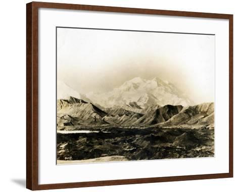 Mount McKinley, 20,300 Ft., 1924-Asahel Curtis-Framed Art Print