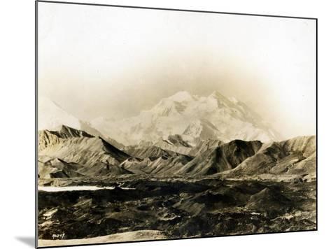 Mount McKinley, 20,300 Ft., 1924-Asahel Curtis-Mounted Giclee Print
