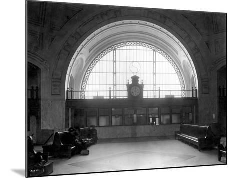 Train Station with Vaulted Archway, Circa 1911-Asahel Curtis-Mounted Giclee Print