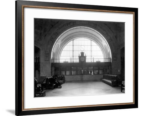 Train Station with Vaulted Archway, Circa 1911-Asahel Curtis-Framed Art Print