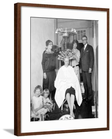 Wired: Woman Gets Permanent Wave, 1926-Marvin Boland-Framed Art Print