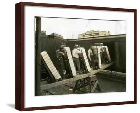 Loading Boxes of Cherries, Kenniwick, 1928-Asahel Curtis-Framed Art Print