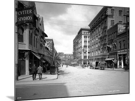 Spokane Street, 1911-Asahel Curtis-Mounted Giclee Print